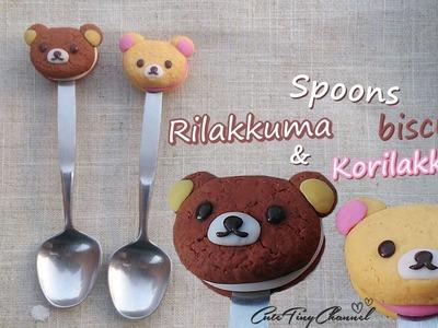 Spoons ((Rilakkuma and Korilakkuma)) BISCUITS ♥ Polymer Clay Tutorial