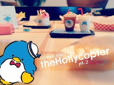 "♥ TheHollycopter Polymer Clay Contest Entry (""Happy Burger"")♥"