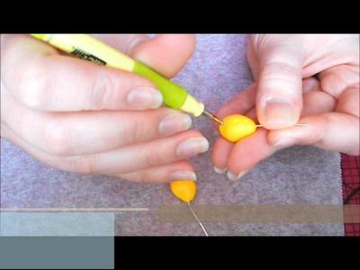 Tuto fimo : citron (polymer clay lemon)