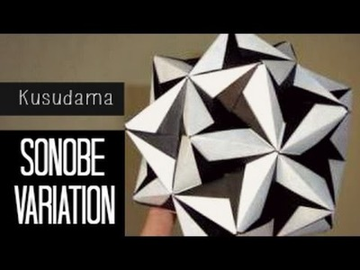 Tutorial Origami Ball. Kusudama (Sonobe Variation)