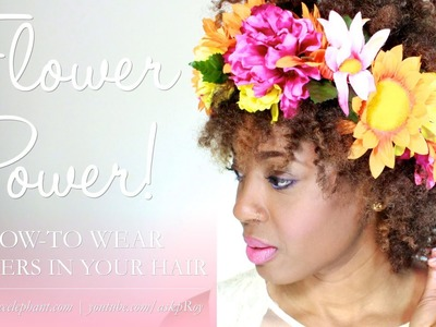 Wear Flowers in Your Hair for Spring! [4cHairChick Vlogger]