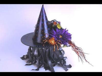 Witch's Hat Candy Holder or Decoration ~ Featuring Miriam Joy