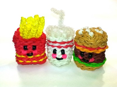 3-D Happy Soft Drink (Soda) Tutorial by feelinspiffy (Rainbow Loom)