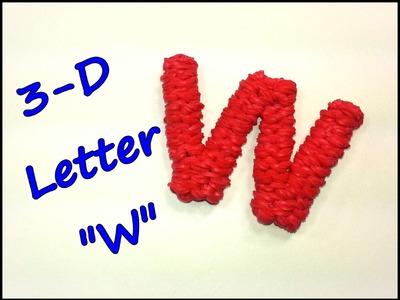 """3-D Letter """"W"""" Tutorial by feelinspiffy (Rainbow Loom)"""