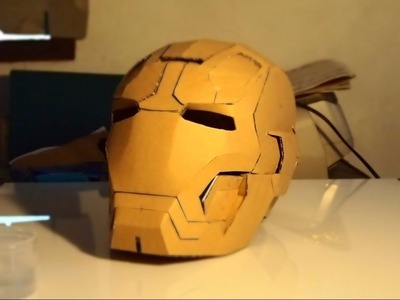 #30: Iron Man Mark 42 Helmet DIY 4.8 - Gluing supports & the rest (cardboard)