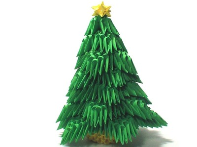 3D origami Christmas tree