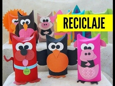 40 ideas para reciclar tubos de papel higiénico | 40 ideas for recycled toilet paper tubes