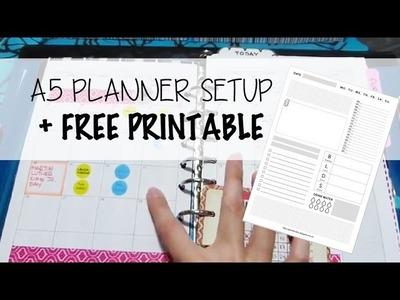A5 Daytimer.Filofax Planner Setup + Free Printable