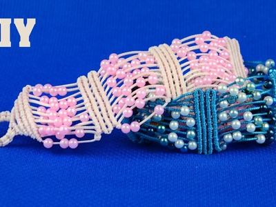 Beaded Macrame Bracelet - Easy Tutorial