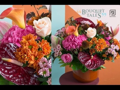 Bloomtube Bouquet Tales Indian Summer Floral Inspiration How to make DIY
