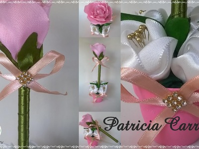 Caneta com ponteira de rosa no vasinho DIY \ Pen with pink tip in the little vase