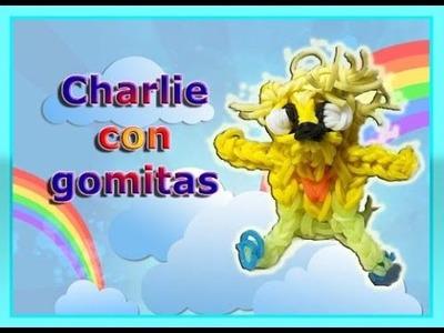 Charlie de Hora de Aventuras con gomitas. Charlie Rainbow Loom. Adventure Time