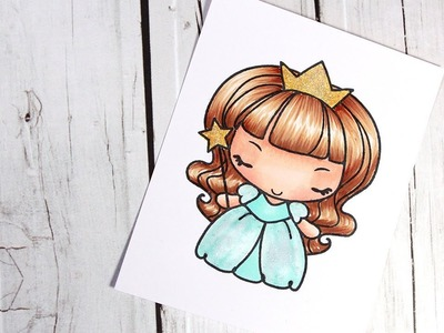 Color Wednesday #7 - The Greeting Farm Princess Anya & Copic Markers