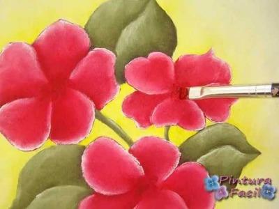 Como Pintar en Tela Individuales Country con Flores *Painting on Fabric* Pintura Facil