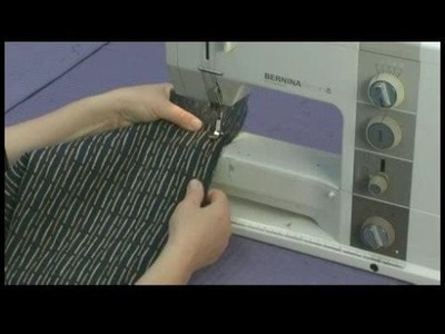 Creating a Couch Slipcover : Sewing Bottom Couch Slipcover Panel to Side Panel