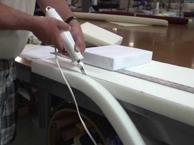 Cutting Foam with an Electric Kitchen Knife