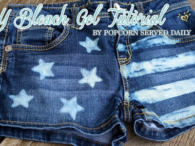 DIY Bleach Gel - Restyle Denim Short