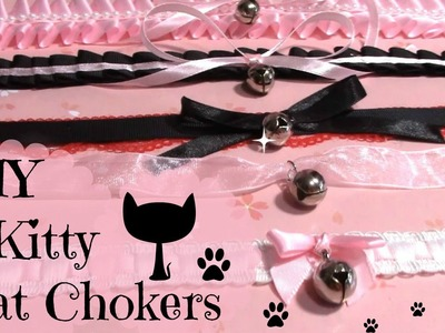 DIY Chokers | 4 Kitty Cat Chokers.Collar | Halloween DIY
