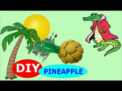 DIY Crafts: How to Make a Pineapple out of Plastic Bottles and Spoons