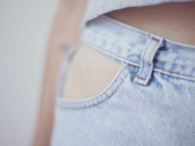 DIY cut-out denim shorts - Ari's Quick Fix Series