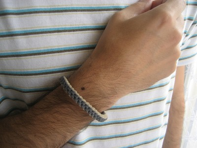 DIY Día del padre: pulsera macramé chico. Father's day: boy's bracelet