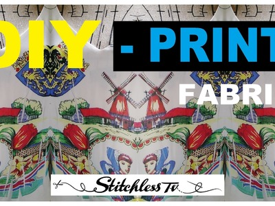 DIY fabric printing - Upcycle clothes