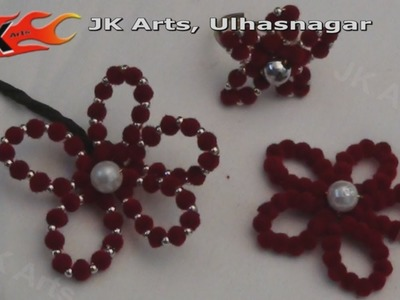 DIY How to make Beaded Flower - JK Arts 028
