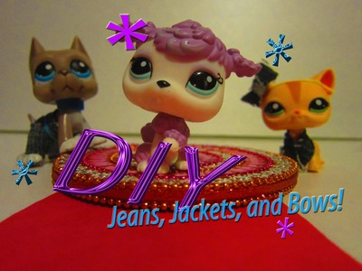 DIY: LPS Cloth (denim), Jacket, and Bow [NO SEW]