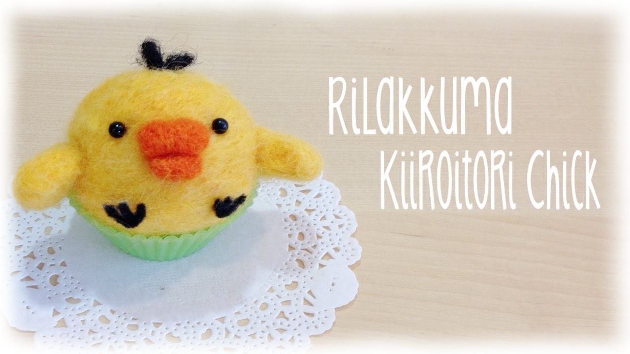 DIY Needle Felt Chick - Kawaii Rilakumma friend Kiiroitori