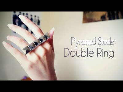 DIY ✂ Pyramid Studs Double Ring
