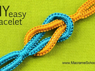 Easy Infinity Square Knot Bracelet Tutorial ∞