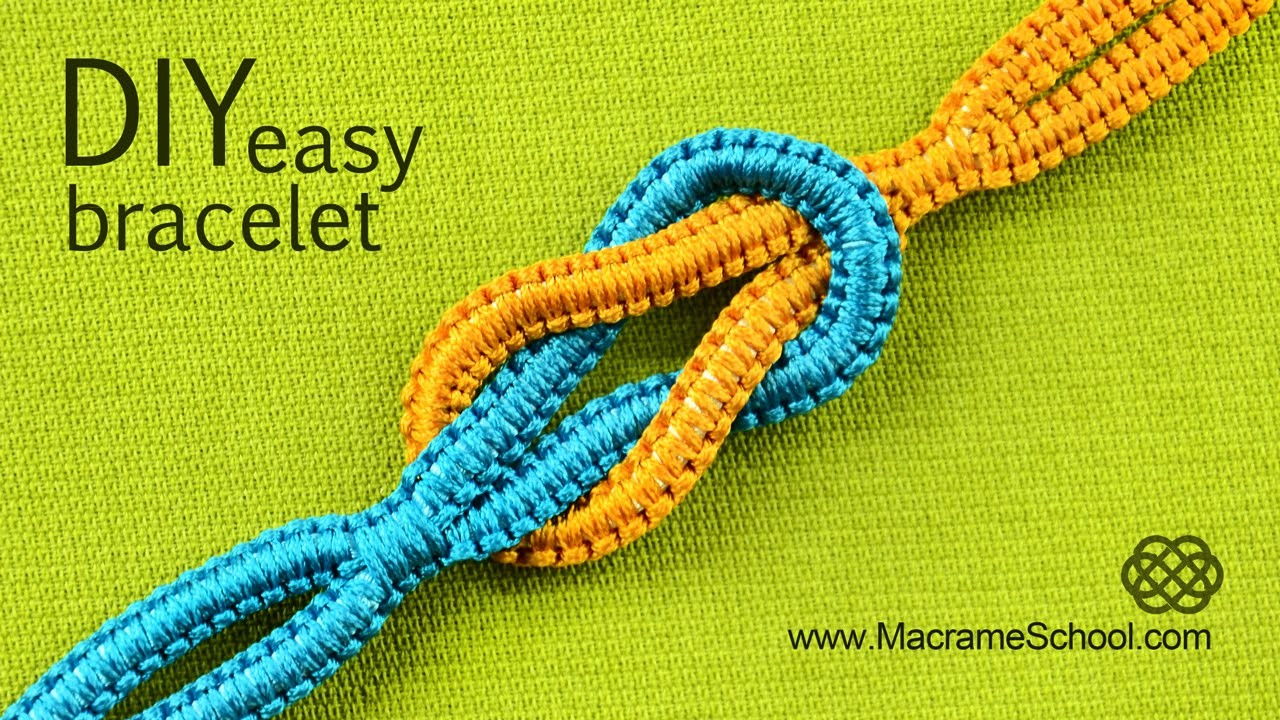 Easy Infinity Square Knot Bracelet Tutorial ∞