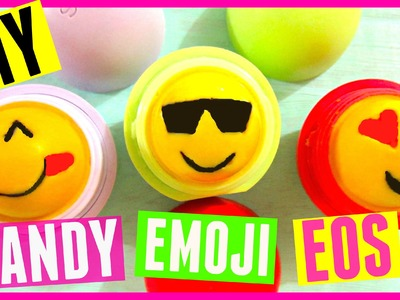 EMOJI EOS out of CANDY| DIY EOS Lip Balm with Gummy Bears & Chocolate