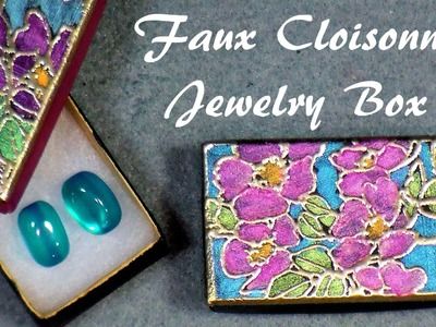 Faux cloisonne jewelry box tutorial