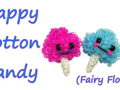 Happy Cotton Candy (Fairy Floss) Tutorial by feelinspiffy (Rainbow Loom)