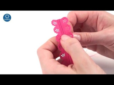 How to assemble a lace zipper chain
