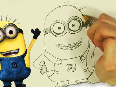 How to Draw a Minion (Despicable Me) by HooplaKidz Doodle | Drawing Tutorial