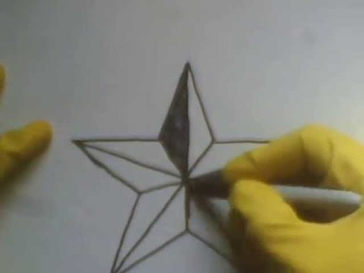 How To Draw A Star step by tutorial como dibujar una estrella de puntas picos en 3d paso a paso