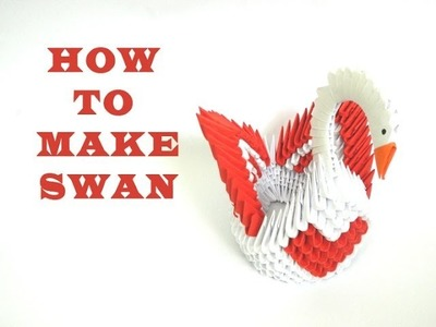 How to make 3D Origami Swan 2 (HD)