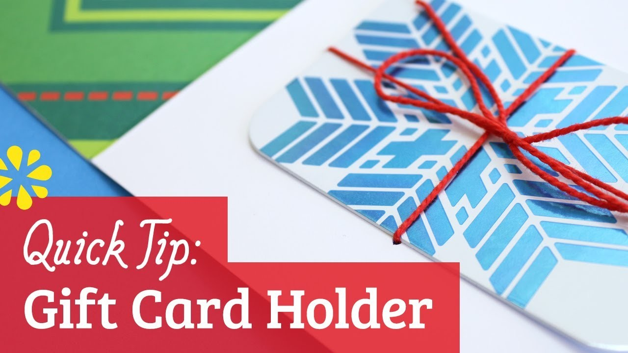 How to Make a Gift Card Holder