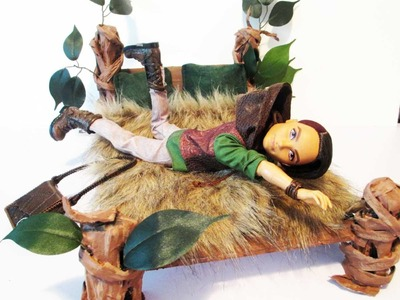 How to make a Hunter Huntsman Doll Bed Tutorial. Ever After High