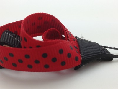 How To Make A Ladybug Ribbon Hair Clippie