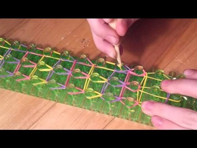 How to make a RAINBOW LOOM  ~ PUFF BRACELET ~ ** W