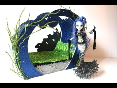 How to make a Sirena Von Boo Doll Bed Tutorial - Monster High