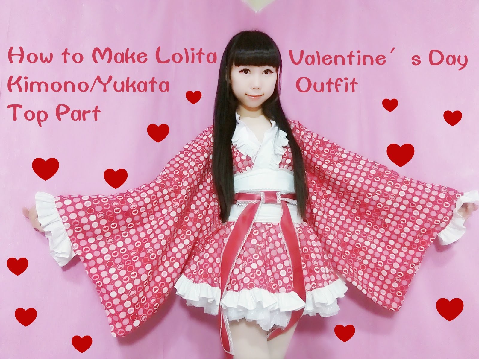 Kawaii DIY-How to Sew A Fancy Lolita Kimono.Yukata (Part 1: Top) for Special Occasions