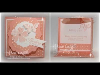 Label Flap Triple Fold card with Dawn