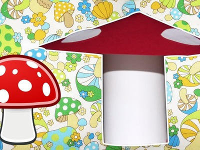 Learn how to make Paper Mushroom | Easy DIY Craft Tutorial | Kids Home decor Tips