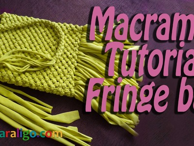 Macrame tutorial: How to make a macrame fringe bag!