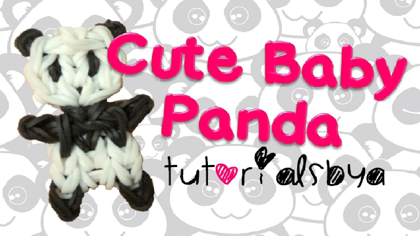 NEW Cute Baby Panda Rainbow Loom Charm.Figurine Tutorial