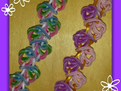 "NEW ""Psychedelic Jelly Babies"" Hook Only Rainbow Loom Bracelet. How To Tutorial"